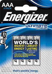 Элемент питания FR03 AAA Energizer Lithium 4 штуки в блистере