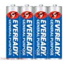 Элемент питания R03 AAA EVEREADY BLUE SH 4 штуки в шринке