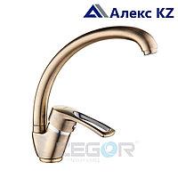 Смеситель для кухни одноручный ZEGOR YUB4-A181KT (цвет: бронза)
