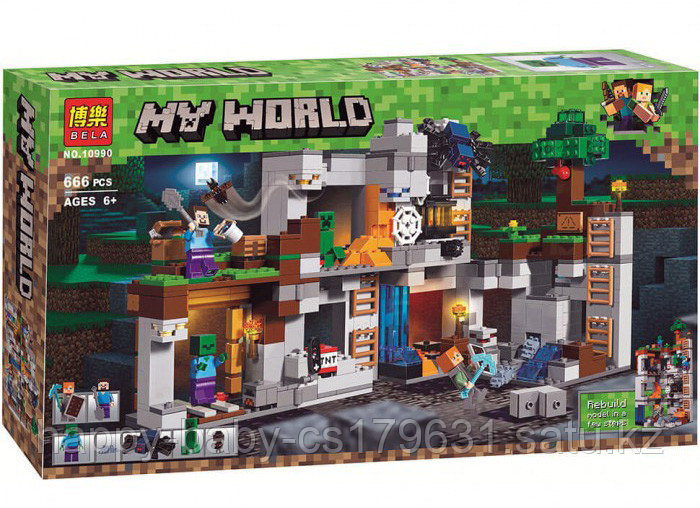 Конструктор Bela Minecraft Приключения в шахтах 10990  666 дет