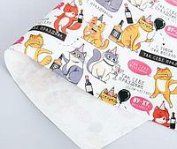 Бумага упаковочная крафтовая «Веселимся», ассортимент. 50 × 70 см