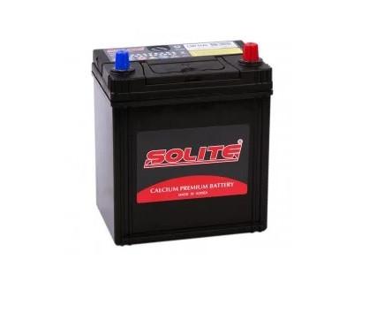 Аккумулятор автомобильный Solite 35Ah 40b19R(L) левый + Корея