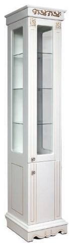 Шкаф «2Д Амелия» (490х2040х340) (СЕРЕБРО)