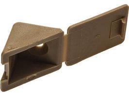 Уголок мебельный ЗУБР с шурупом, цвет бук, 4,0x15мм, ТФ6, 4шт