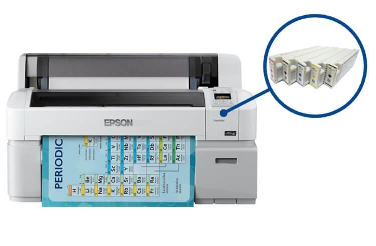 Плоттер Epson SureColor SC-T3200 с ПЗК и чернилами (без стенда)