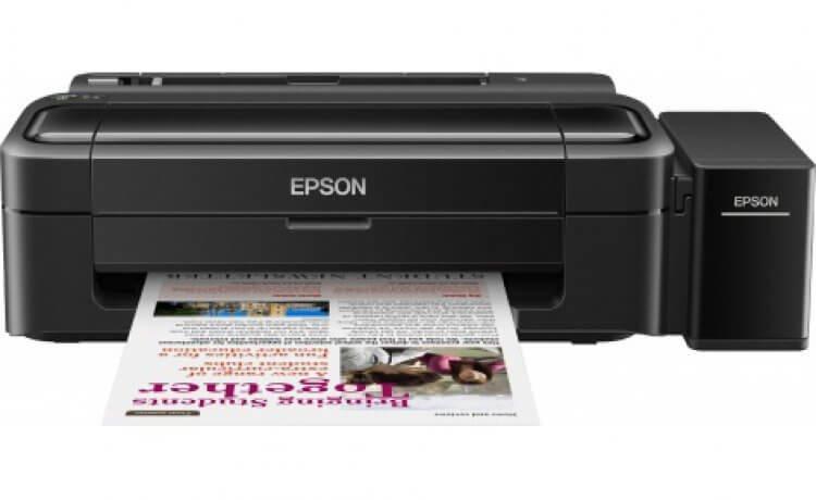 Принтер Epson L132 с оригинальной СНПЧ и чернилами