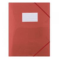 Папка с резинкой А4, 0,48мм, с визиткой, красная, пластик Donau, PBS