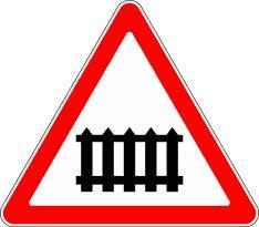 Знак 1.1 Шлагбаумы бар теміржол өткелі/ Железнодорожный переезд со шлагбаумом