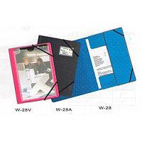 Папка с резинкой А4, 0,50мм, с визиткой, черная, пластик Bindermax