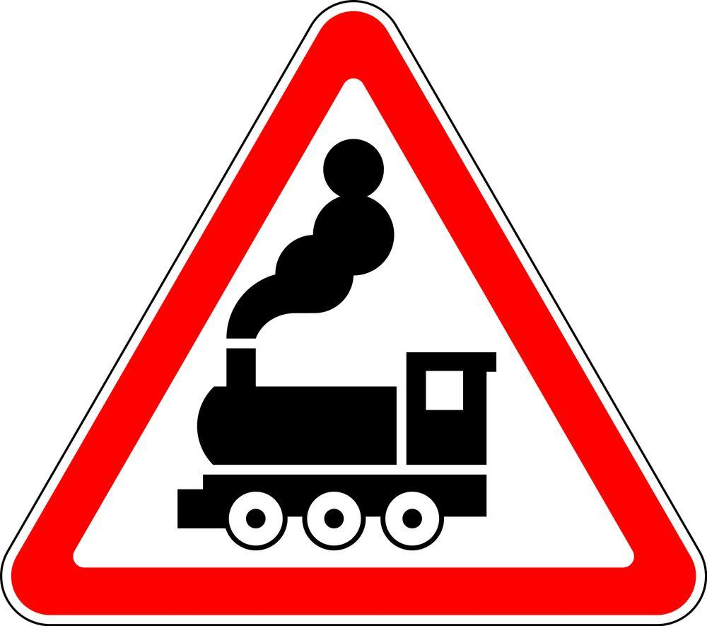 Знак 1.2 Шлагбаумсыз теміржол өтпесі/ Железнодорожный переезд без шлагбаума