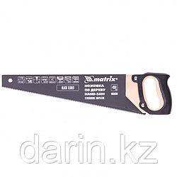 Ножовка по дереву, 450 мм, 7-8 TPI, зуб-3D, каленный зуб, тефлоновое покрытие, деревянная рукоятка Matrix