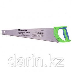 "Ножовка по дереву ""Зубец"", 450 мм, 7-8 TPI, каленый зуб 2D, двухкомпонентная рукоятка Сибртех"