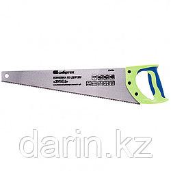 "Ножовка по дереву ""Зубец"", 450 мм, 7-8 TPI, каленый зуб 3D, двухкомпонентная рукоятка Сибртех"