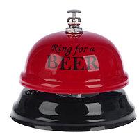 Звонок настольный Ring for a beer 7,5 х 7,5 х 6,5 см