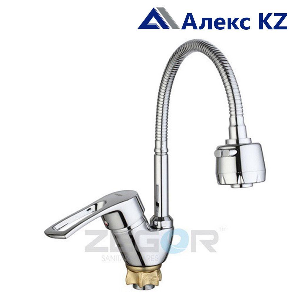 Смеситель для кухни одноручный с гибким изливом  YUB4-E181