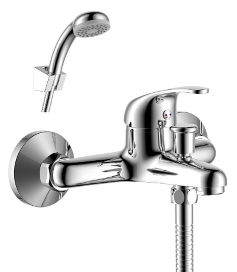 Смеситель одноручный (35мм) для ванны c кор. излив хром Rossinka Y35-31