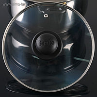 Крышка для сковороды и кастрюли стеклянная, d=22 см, с пластиковой ручкой