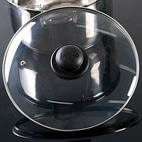 Крышка для сковороды и кастрюли стеклянная, d=26 см, с пластиковой ручкой