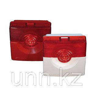 ОПОП 124-7 бело-красный - оповещатель свето-звуковой (сирена со стробоскопом), фото 2