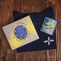 Набор 'ВВС', фляжка 210 мл, майка р. L(50)