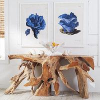 Консольный стол из корня тика