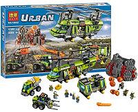 Конструктор BELA Urban 10642 Грузовой вертолет исследователей вулканов аналог Lego City 60125