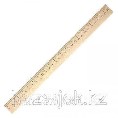Линейка деревянная 30 сантиметров