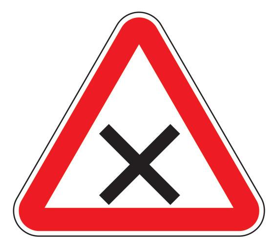 Знак 1.6 Балама жолдардың қиылысы/ Пересечение равнозначных дорог