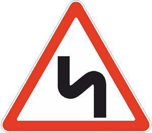 Знаки 1.12.1, Знак 1.12.2 Қауіпті бұрылыстар/ Опасные повороты