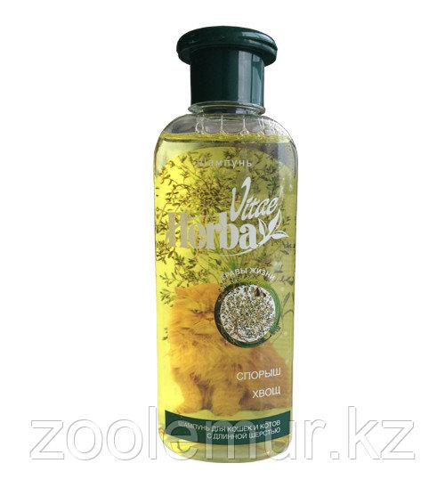 «Herba Vitae» шампунь с экстрактами спорыша и хвоща для котов и кошек с длинной шерстью