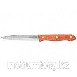 """Нож LEGIONER """"GERMANICA"""" для стейка, с деревянной ручкой, лезвие нерж 110мм"""