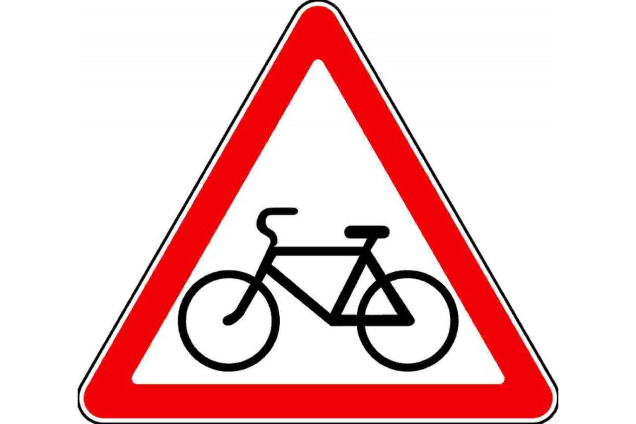 Знак 1.22 Велосипед жолымен қиылысу\ Пересечение с велосипедной дорожкой