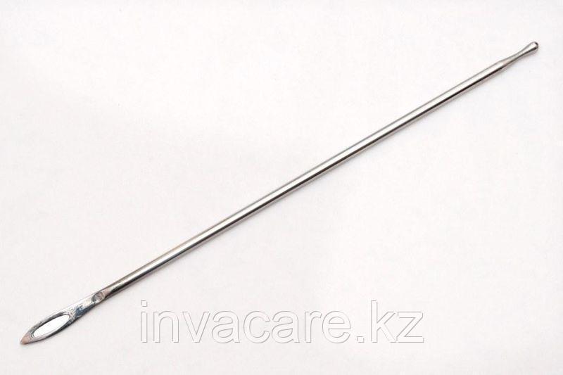 Зонд хирургический пуговчатый с ушком, 160мм *, (25-2736)