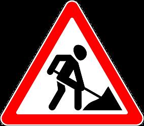 Знак 1.23 Жол жұмыстары/ Дорожные работы
