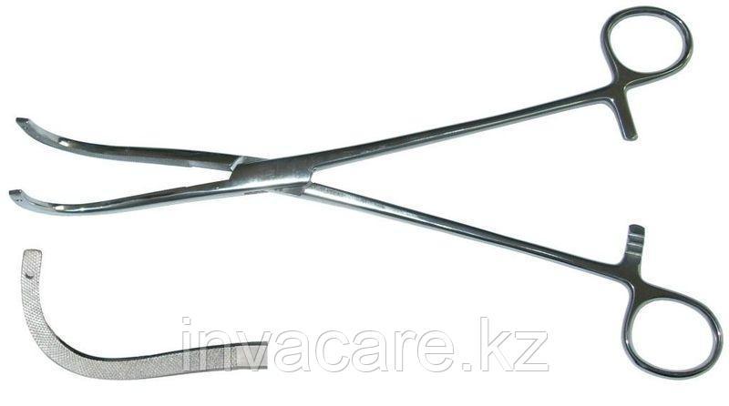 Зажим для почечной ножки, изогнутый по радиусу малый, №1, 230мм. *, (28-4072R)