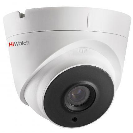 DS-T203P - 2MP HD-TVI уличная купольная камера с фиксированным объективом, поддержкой питания по коаксиалу (PoC.af) и ИК-подсветкой.