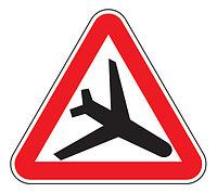 Знак 1.28 Т мен ұшатын ұшақтар/ Низколетящие самолеты