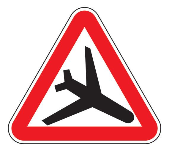 Знак 1.28 Төмен ұшатын ұшақтар/ Низколетящие самолеты