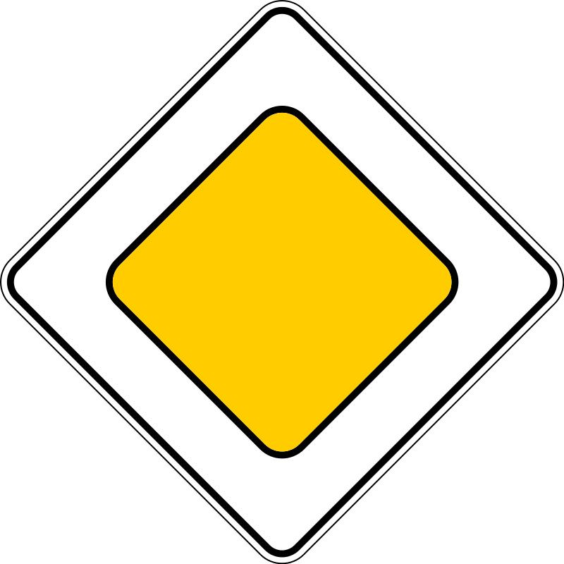 Знак 2.1 Басты жол/ Главная дорога
