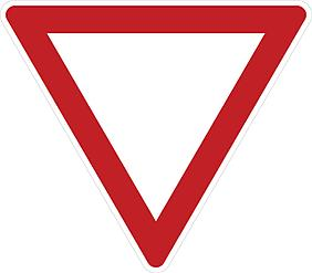 Знак 2.4 Жол беріңіз/ Уступите дорогу