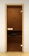 Дверь для сауны Sauna Market 690*1890 мм Лиственница Прозрачное