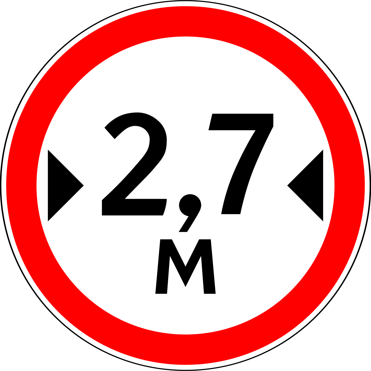 Знак 3.14 Ограничение ширины