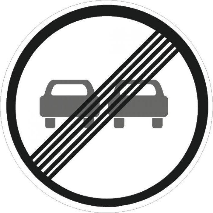 Знак 3.21 Конец зоны запрещения обгона