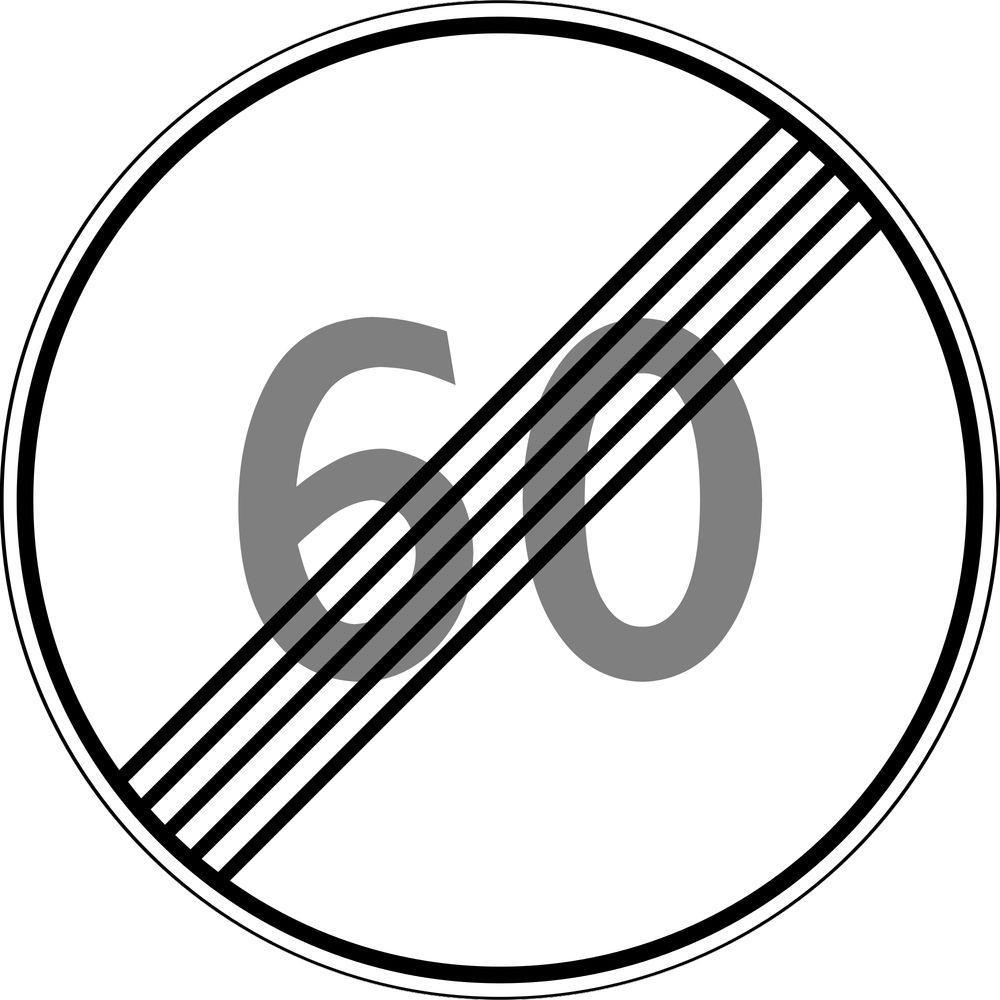 Знак 3.25 Максималды жылдамдықты шектеу аймағының соңы/ Конец зоны ограничения максимальной скорости