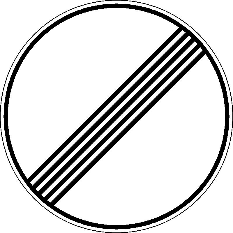 Знак 3.31 Барлық шектеулер аймағының соңы/ Конец зоны всех ограничений