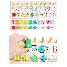Логарифмическая доска 3 в 1 - цифры, счеты и геометрические фигуры, фото 2