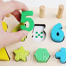 Логарифмическая доска 3 в 1 - цифры, счеты и геометрические фигуры, фото 3