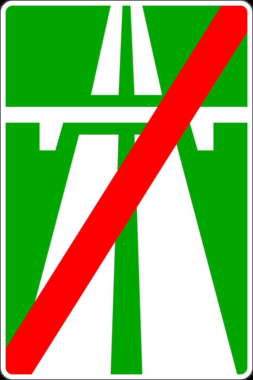Знак 5.2 Автокөлік жолының соңы/ Конец автомагистрали