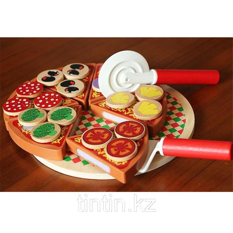 Деревянная игрушка - Пицца (на липучках)