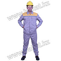 Рабочий Костюм серый с желтым
